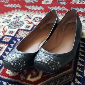 Lucky Brand : Square Toe Leather Stud Ballet Flats